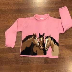 Beautiful Sweater with Horses design